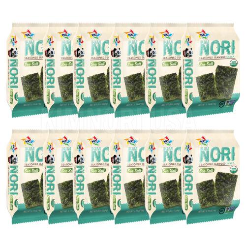 Organic Seasoned Roasted Seaweed Snacks 12 PK Sea Salt.  Kim Nori