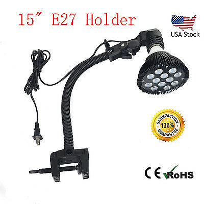 4pcs Adjustable LED Clamp Lighting Mount/clip Holder E27 Socket Gooseneck Clamp