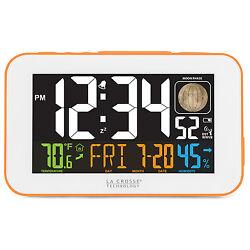 617-1485O La Crosse Technology Multi-Color Atomic Alarm Clock with USB Charging