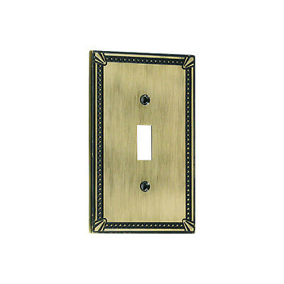 Wall Light Switch Plate Toggle Cover Decorative Antique Gold Single 1 Gang - Single Toggle Switch Cover Antique