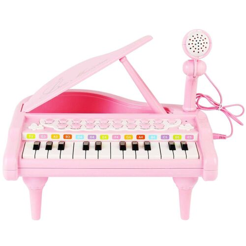 Pink 25 Key Kids Toddler Electric Mini Piano Keyboard Toy wi
