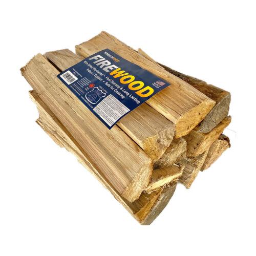 TimberTote Natural Hardwood Mix Fire Log Firewood Bundle for Fireplace & Firepit