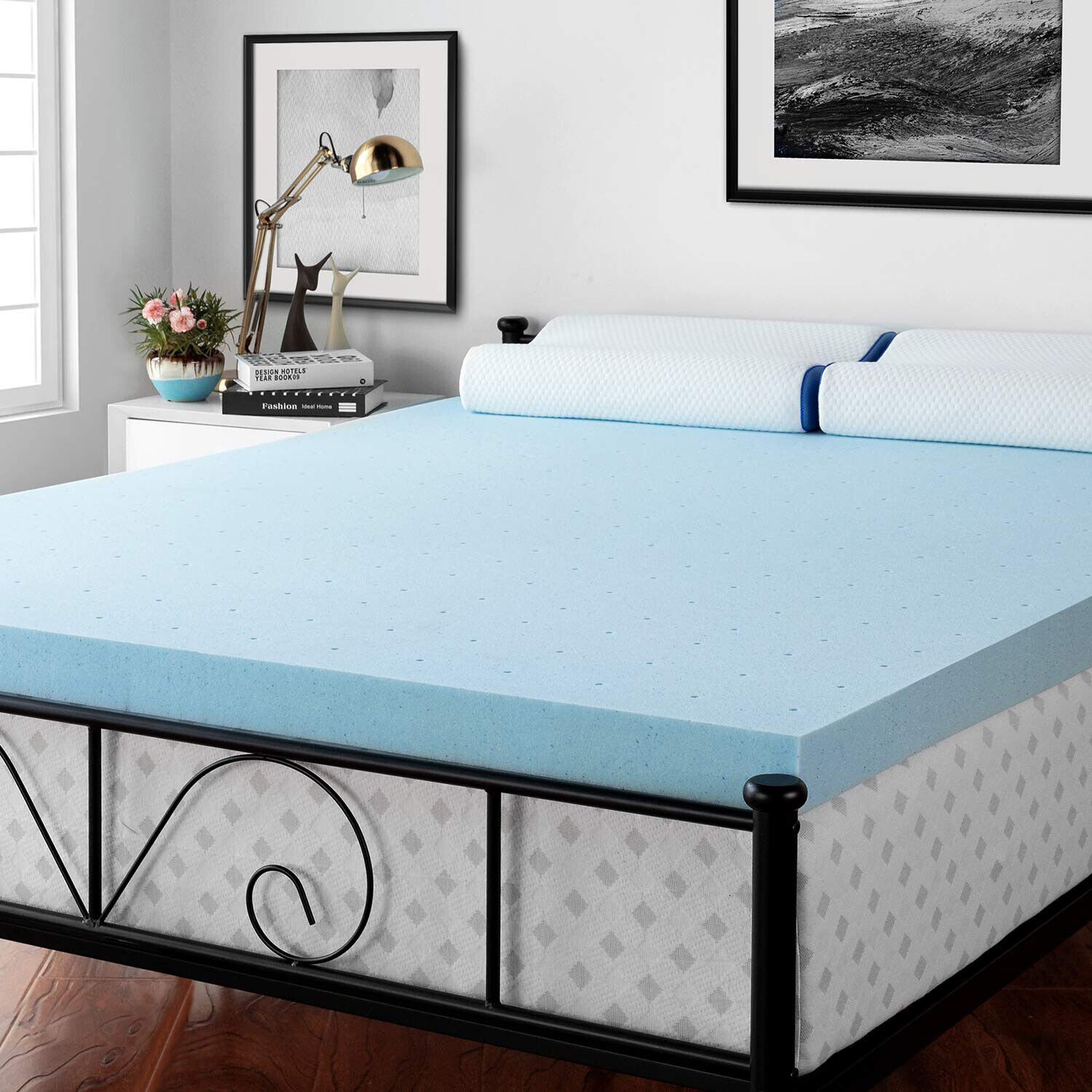3 Inch Cooling Matress Topper Ventilated GelInfused Memory Foam Mattress Relief