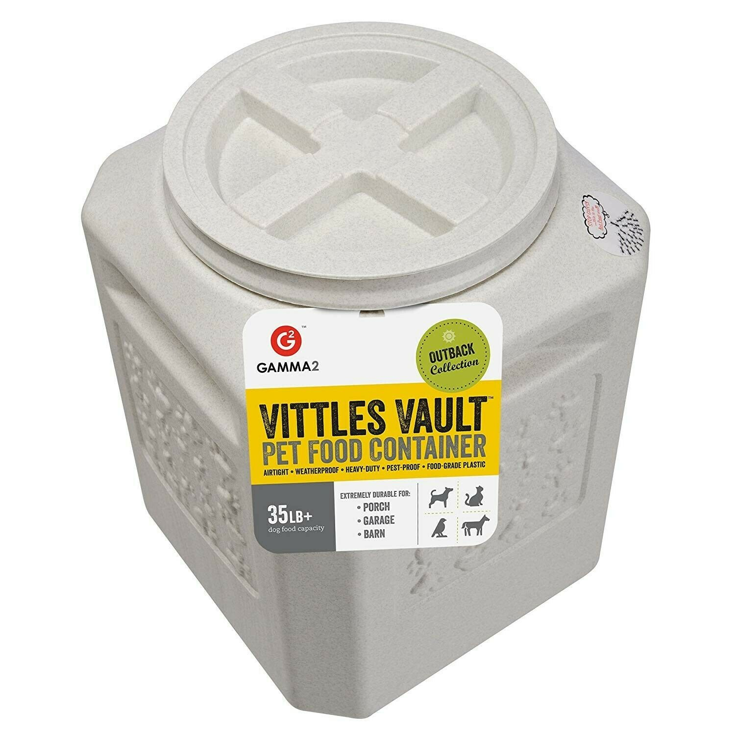 Vittles Vault Outback 35 lb Airtight Pet Food Storage Container
