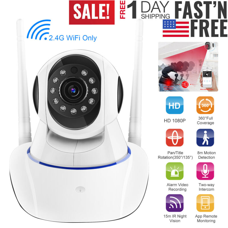 1080P HD Smart Home Security IP Camera Wi-Fi Wireless 360° IR Night Baby Monitor