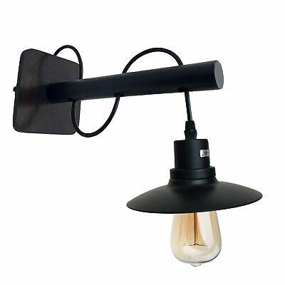 Moderno Industrial Vintage Retro Metal Negro Pared Lámpara Ajuste Instalación