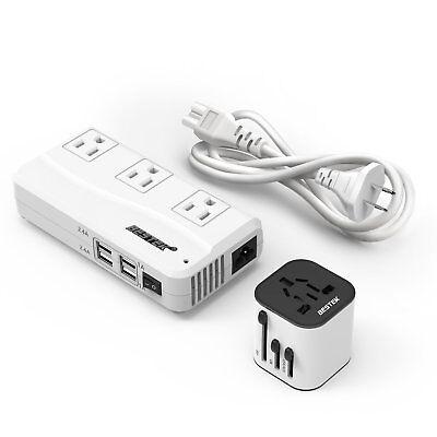 BESTEK Travel Adapter Converter Combo, 220v to 110v Voltage Overseas Converter (Travel Voltage Converter)