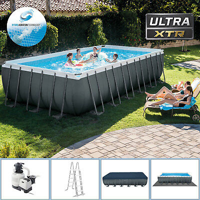 Intex Swimming Pool 732x366x132 Frame Pool Set mit Sandfilter XTR Schwimmbecken
