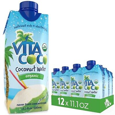 Vita Coco Organic Coconut Water, Pure - Naturally Hydrating Electrolyte Drink...