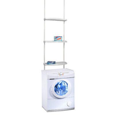 Gebraucht, XXL Teleskop-Regal für Waschmaschinen Bad Regal Standregal Badezimmer H170-275cm gebraucht kaufen  Solingen