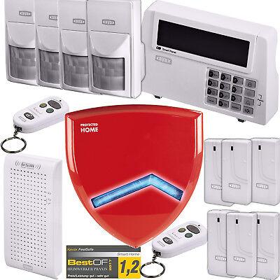 Hama Xavax Funk Alarm Anlage DELUXE Türsensor Sirene Einbruch Sicherheit System!