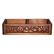 Copper Farmhouse Double Sink