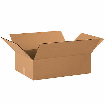 20 X 14 X 6 Flat Cardboard Corrugated Boxes 65 Lbs Capacity Ect-32 Lot Of