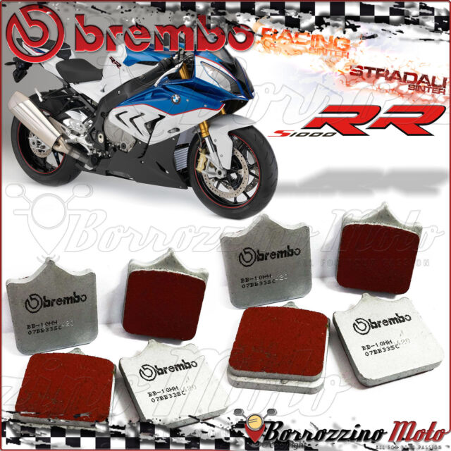 8 FRONT BRAKE PADS BREMBO SC RED SINTERED ROAD-RACING 07BB33SC BMW S1000RR 2015