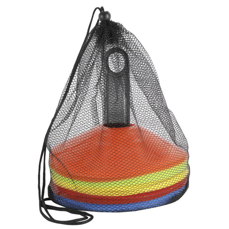 Disc Cone Set, 25 Pcs Agility Soccer Cones with Carry Bag & Holder for Training