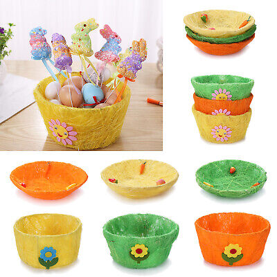 Easter Eggs Storage Basket Toy Party Egg Plate Ornament Candy Box DIY Decor Gift - Halloween Gift Baskets Diy