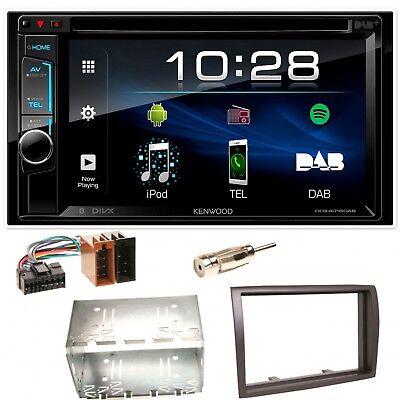 Kenwood DDX-4018DAB Bluetooth Autoradio USB Einbauset für Fiat Ducato Boxer Jump ()