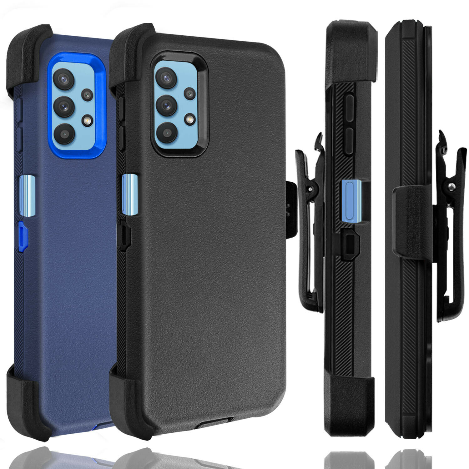 For Samsung Galaxy A12 A32 5G Case Holster Belt Clip Stand Heavy Duty Hard Cover Cases, Covers & Skins