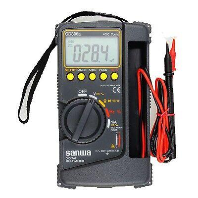 Sanwa Digital Multimeter Cd800a Dmm 4000 Volt Counter Tester Meter