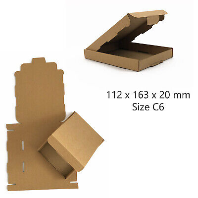 50 x C6 BROWN ROYAL MAIL LARGE LETTER PIP CARDBOARD POSTAL BOXES *HIGH QUALITY*