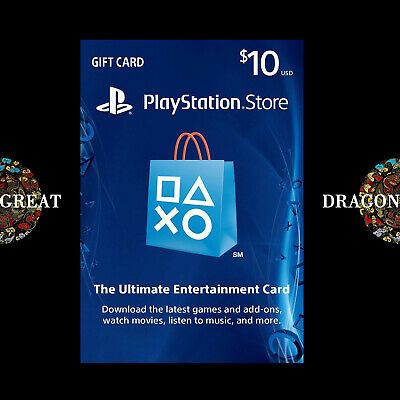 $10 PSN Digital Card - Playstation Network $10 USD PS4 PS3 - US Gift Card [US]