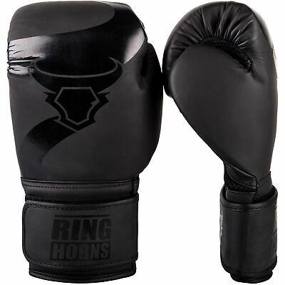 Ringhorns Boxhandschuhe Charger by Venum Schwarz-Schwarz 8 10 12 14 16oz
