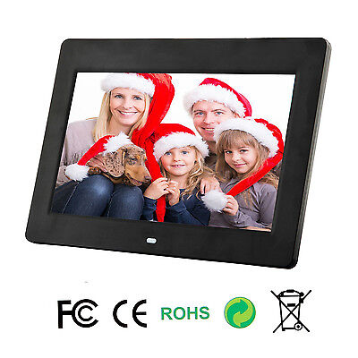 New LCD 10 inch HD Digital Photo Picture Movie Frame MP4 Player + Remote Black