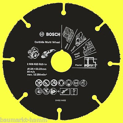 Bosch Hartmetall Multi Wheel Carbide 125 mm 2608623013 Trennscheibe
