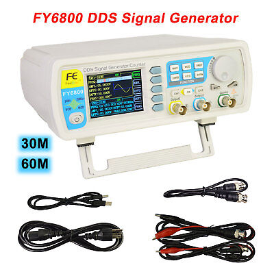 Fy6800 3060m Digital Dual-ch Function Signal Generator Counter Frequency Meter