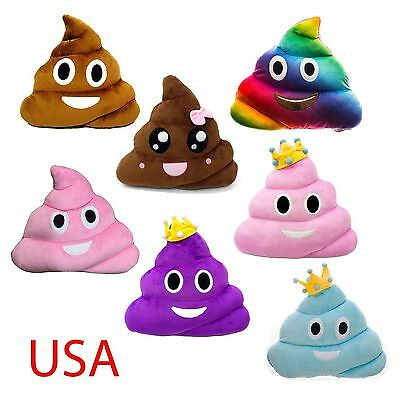 13 Inch Poop Poo Family Emoji Emoticon Pillow Stuffed Quality Plush Toy Home 32](Toy Poop)