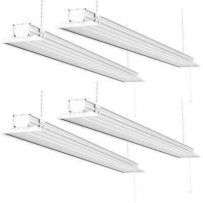 Sunco 4 Pack Flat Led Utility Shop Light 40w 300w 5000k Daylight 4500 Lm