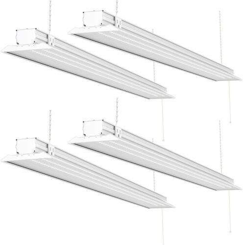 Sunco 4 Pack Flat LED Utility Shop Light 40W (300W) 5000K Daylight 4500 lm