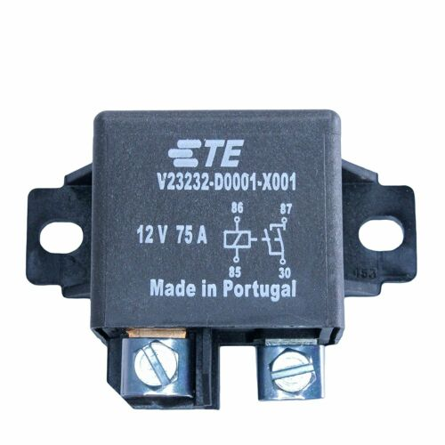 75 Amp High Current 12 Volt Automotive Relay SPST, V23232-D0001-X001,1904000-1