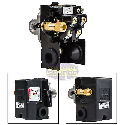 Heavy Duty 25 Amp Air Compressor Pressure Switch Control 140-175 Psi 4 Port