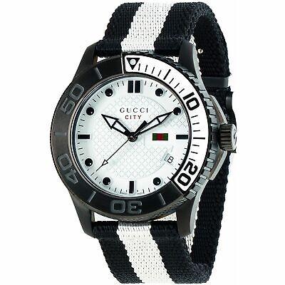 Gucci YA126243 Men's G-Timeless black and white Quartz Watch