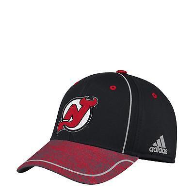 Adidas Jersey Cap (New Jersey Devils adidas NHL Team Authentic Pro Flex Fit Hat / Cap size S/M)