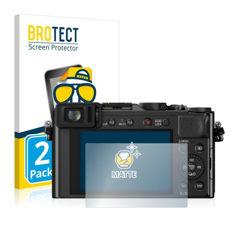 2x Panasonic Lumix DMC-LX100 Display Schutz Folie Matt Entspiegelt