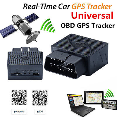 Mini Car Gps Real Time Tracker Obd2 Ii Tracking Device Gsm Gprs For Android Ios