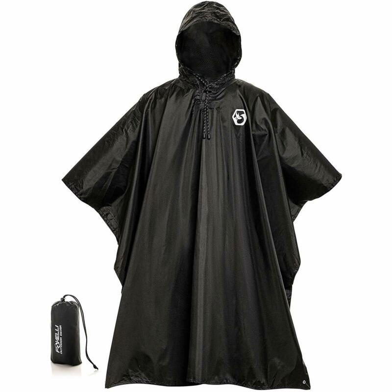 Foxelli Hooded Rain Poncho – Waterproof Emergency Military