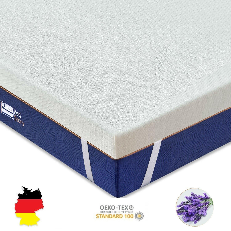 Bedstory 7 Zonen Topper-Matratze Memory Schaum Visco Auflage 90 140 160 180x200