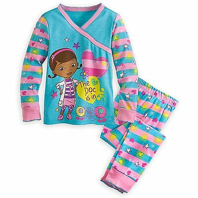 Disney Store Doc Mcstuffins Girl 2PC Tight Fit Long Sleeve Pajama Set Size 7   - Doc Mcstuffin Pjs