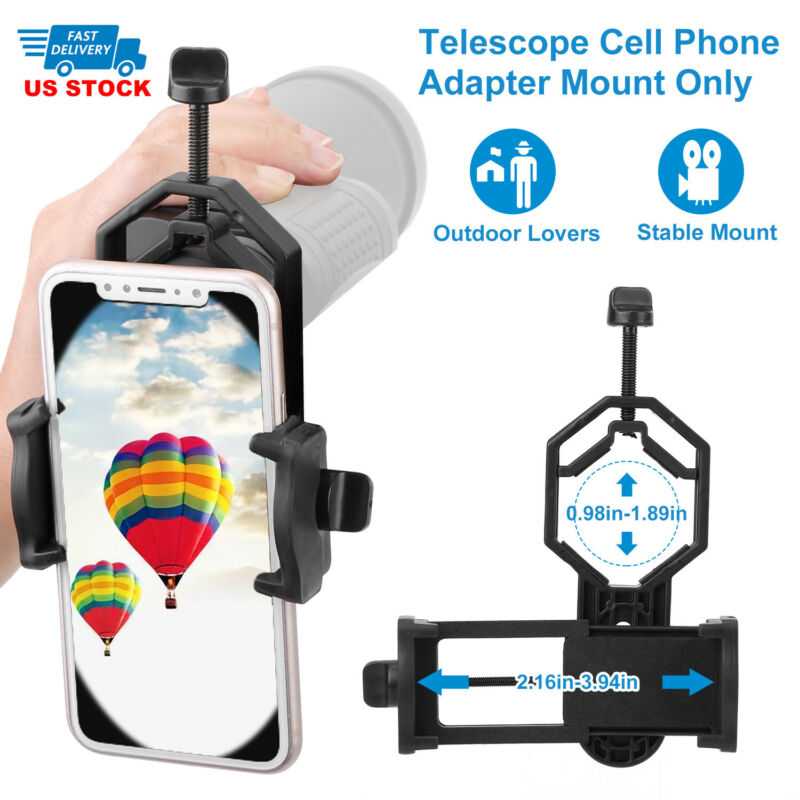 Universal Telescope Cell Phone Mount Adapter for Monocular  Spotting Scope