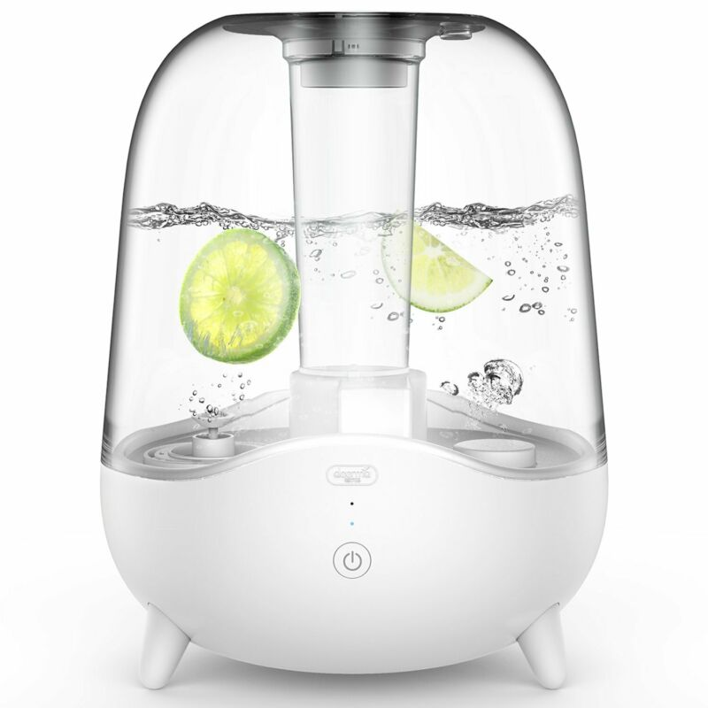 DEERMA 5L Ultrasonic Cool Mist Humidifier with Crystal Clear Transparent Water T
