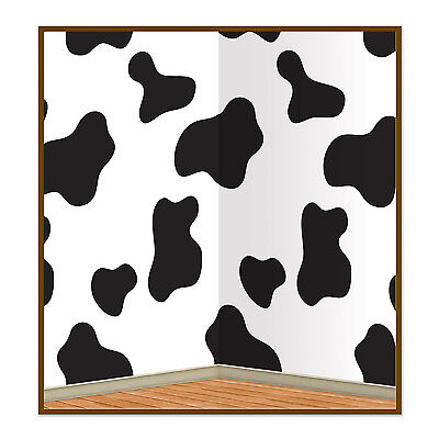 Cow Print Farm Animal Party Scene Setter Backdrop Room Roll Wall - Room Roll
