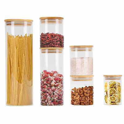 GoMaihe 6 PCS Barattoli di Vetro Barattolo Cucina, Contenitori Alimentari (n1W)