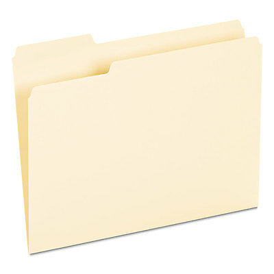 UNIVERSAL Recycled Interior File Folders 1/3 Cut Top Tab Letter Manila 100/Box