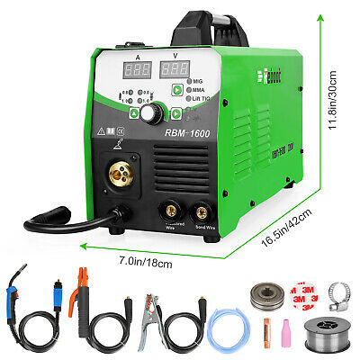 Mig Welder 160a Igbt Inverter Flux Core Wire Gaslessgas 4 In 1 Welding Machine