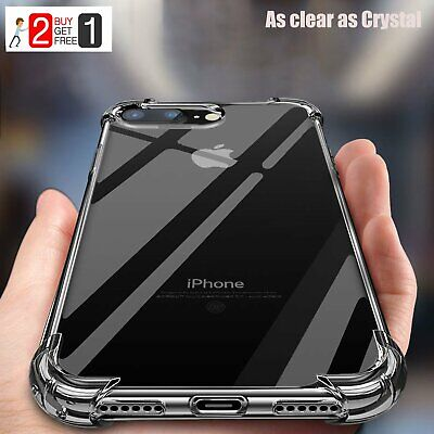 iPhone XR 7 8 Plus XS X 11 Pro Max Case Crystal Clear Shockproof Hybrid Cover