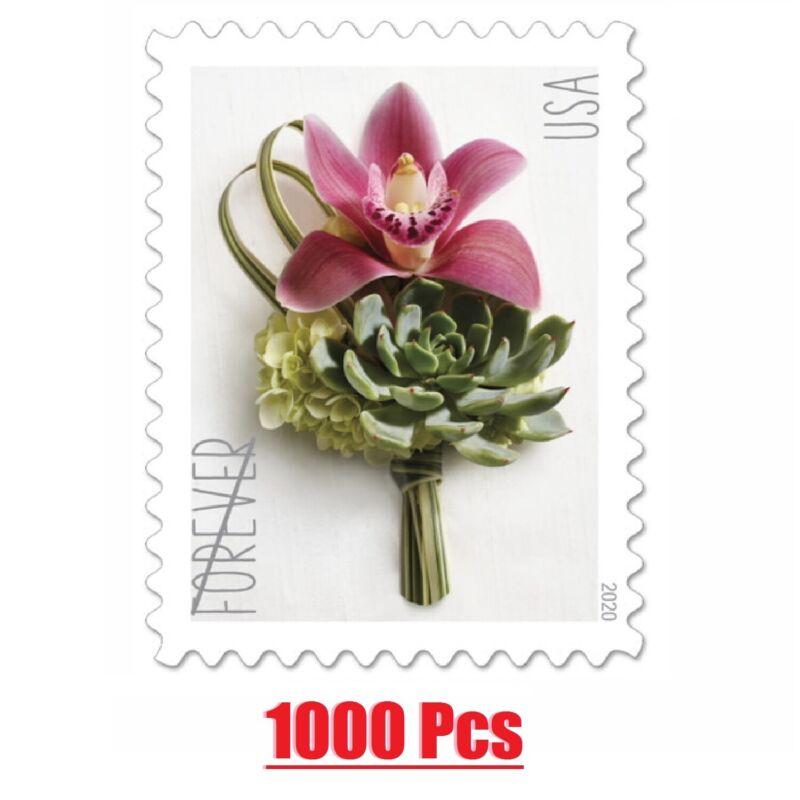 2020 Forever  Mail Sealed 1000 Contemporary Boutonniere Postage US Seller