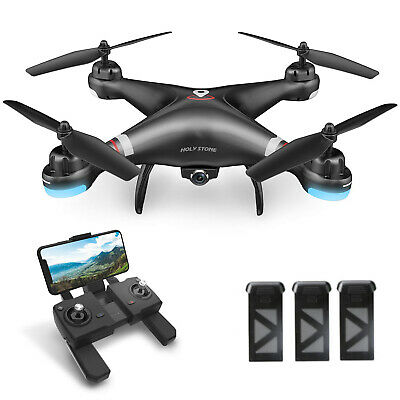 Holy Stone HS110G FPV GPS Drone with HD 1080P Wifi Camera Quadcopter 3 Batteries